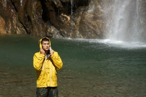 Wishbone Falls for some wet weather shots,